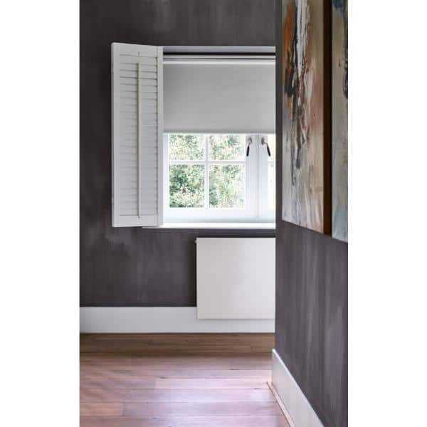 Cocoon By Coulisse Cut To Size Slate Cordless Blackout Fabric Motorized Roller Shade 36 In W X 72 In L 2013104 The Home Depot