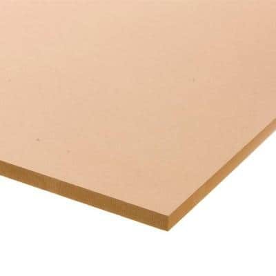 Medium Density Fiberboard (Common: 3/4 in. x 2 ft. x 4 ft.; Actual: 0.734 in. x 23.75 in. x 47.75 in.)