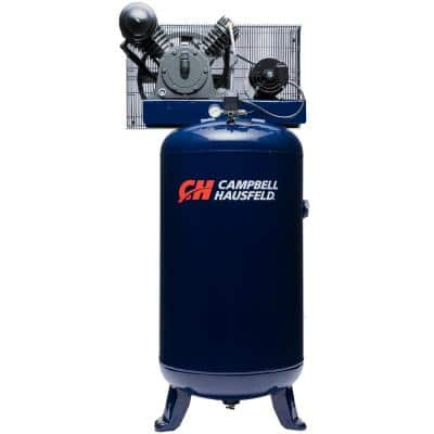 80 Gal. Vertical Electric Two Stage Stationary Air Compressor 14CFM 5HP 208-230V 3PH (HS5380)