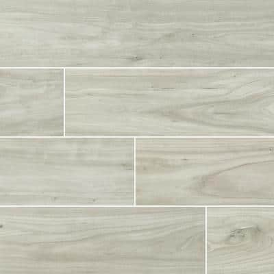 8 in. x 48 in. Catalina Ice Polished Porcelain Floor and Wall Tile (10.33 sq. ft. / Case)