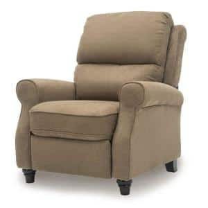 36 in. Width Big and Tall Light Brown Fabric 3 Position Manual Recliner