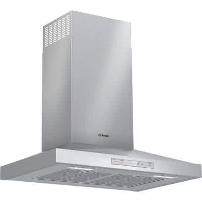 500 Series 30 in. 600 CFM Convertible Wall Mount Range Hood with Home Connect in Stainless Steel