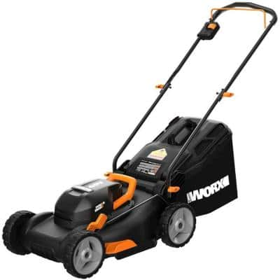 POWER SHARE 40-Volt 17 in. Cordless Battery Walk Behind Mower with Mulching & Intellicut, (Battery & Charger Included)