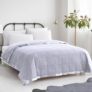 Summer Warmth Grey Down Cotton King Blanket