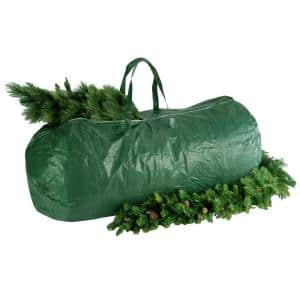 Green Heavy Duty Tree Storage Bag with Handles and Zipper - Fits Up to 9 ft., 29 in. x 56 in.