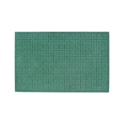 A1HC Matrix Green 24 in. x 36 in.Eco-Poly Entrance Mats with Anti-Slip Fabric Finish and Tire Crumb Backing