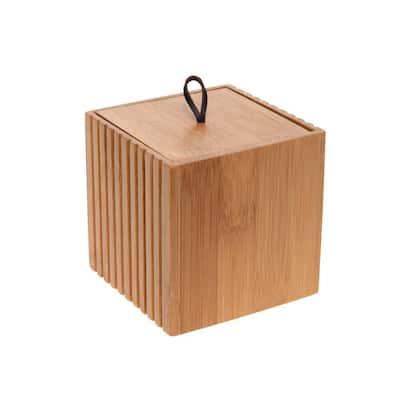 Small Square Oslo Bamboo Storage Jar