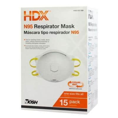 N95 Disposable Respirator Valve Box (15-Pack)