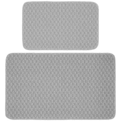Town Square Silver 2 ft. x 3 ft. 4 in. 2-Piece Rug Set