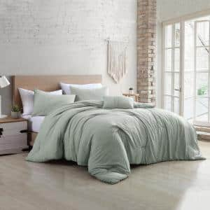 Beck Spa 4-Piece Multi-Colored Queen Garment-Washed Cotton Blend Comforter Set