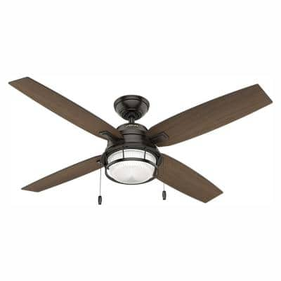 Ocala 52 in. LED Indoor/Outdoor Noble Bronze Ceiling Fan with Light