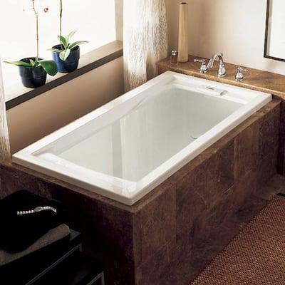 Evolution 72 in. x 36 in. Acrylic Reversible Drain Bathtub in White