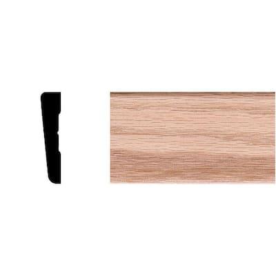 7/16 in. x 2-1/4 in. x 7 ft. Oak Wood Modern Casing Moulding