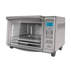 1500 W 6-Slice Stainless Steel Countertop Toaster Oven with Built-In Timer