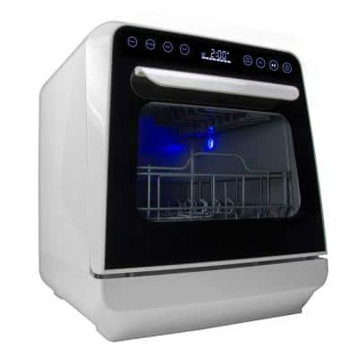Mini Countertop Dishwasher in White with 3-Place Setting Capacity