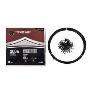 YARD GARD Select – STEEL TENSION WIRE KIT – 200ft. -Stabilizes Bottom of Fence Line, Includes Clips