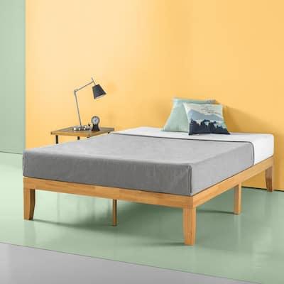 Wood Bed Frames Bedroom Furniture The Home Depot
