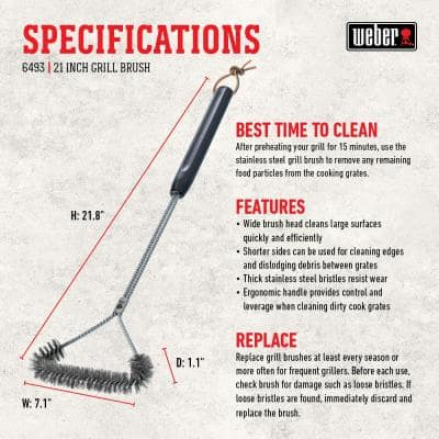 21 in. Three-Sided Grill Brush