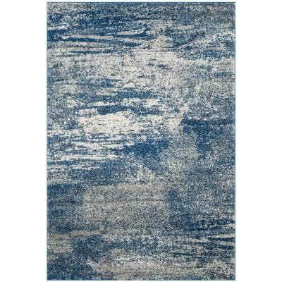 Evoke Navy/Ivory 7 ft. x 9 ft. Area Rug