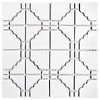 Osaka Matte White 12 in. x 12 in. Porcelain Mosaic Tile (9.79 sq. ft. / Case)
