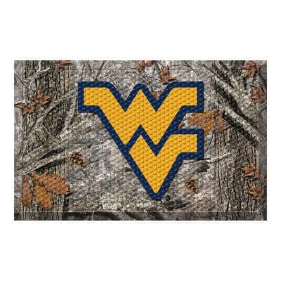 West Virginia University Camo Heavy Duty Rubber Outdoor Scraprer Door Mat
