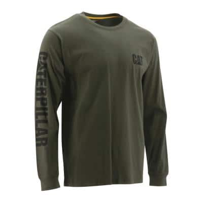 Trademark Banner Men's Large Chive Cotton Long Sleeve T-Shirt