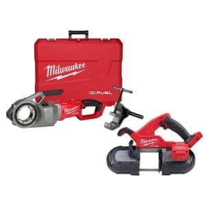 M18 FUEL ONE-KEY Cordless Brushless Pipe Threader and Compact Bandsaw Set
