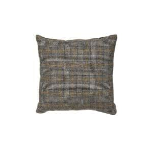 Grey, Black and Mustard Reversible 18 in. x 18 in. Throw Pillow