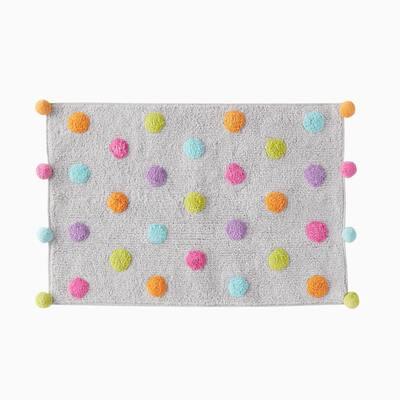Multi 20 in. x 30 in. Cotton Confetti Bath Rug