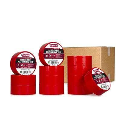 1.89 in. x 54.7 yd. Residue Free Poly Hanging Tape in Red (12-Pack)