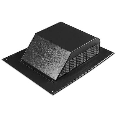 60 sq. in. NFA Aluminum Slant Back Roof Louver Static Vent in Black (Carton of 6)