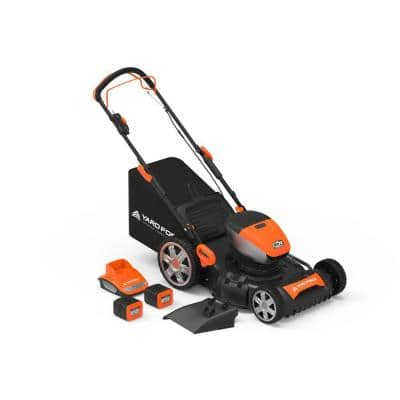 60-Volt Cordless 4.0 Ah Lithium-ion Walk Behind Self-Propelled Mower two Batteries and Fast Charger Combo Kit (4-Tool)