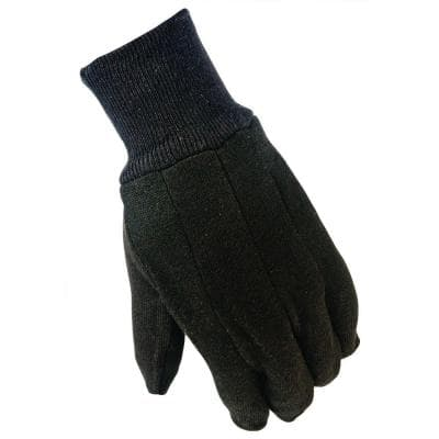 General Purpose Large Brown Cotton Jersey Gloves