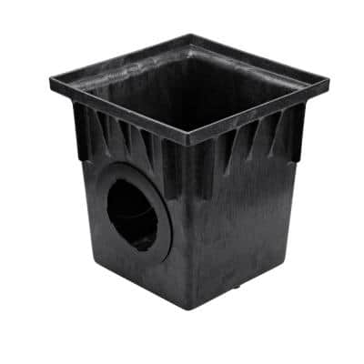 18 in. Plastic Square Drainage Catch Basin, 2-Opening