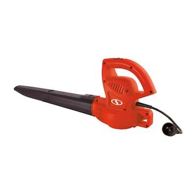 155 MPH 200 CFM 6 Amp Electric Handheld Leaf Blower, Red