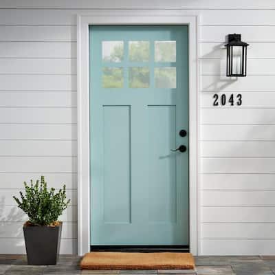 No Border Plain 22 in. x 36 in. Coir Door Mat
