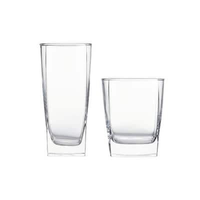 16 oz. and 13 oz. Glass Tumblers (Set of 16)