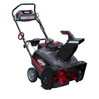 22 in. 250cc Single Stage Electric Start Gas Snowthrower with Snow Shredder Auger