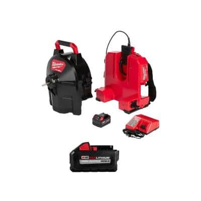 M18 Fuel 18-Volt Lithium-Ion Cordless Drain Cleaning 5/16 in. Switch Pack Sectional Drum Kit with 8.0 Ah Battery