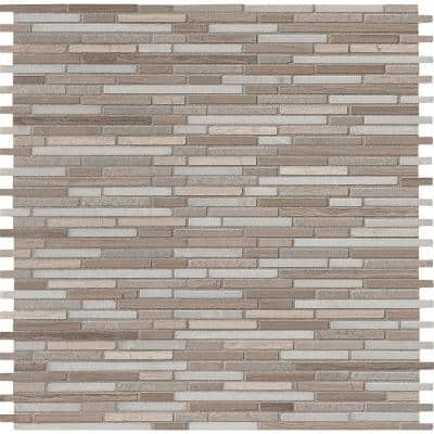 Oyster Arabesque 12 in. x 12 in. Honed Marble Mesh-Mounted Mosaic Floor and Wall Tile