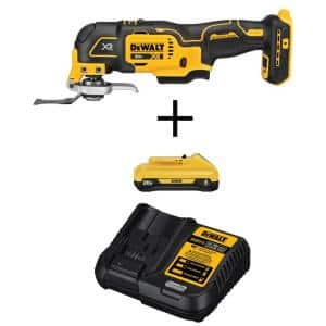 20-Volt MAX XR Cordless Brushless 3-Speed Oscillating Multi-Tool with (1) 20-Volt 4.0Ah Battery & Charger