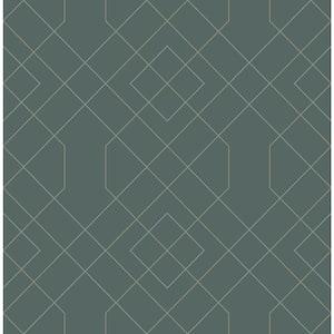 Ballard Teal Geometric Teal Paper Strippable Roll (Covers 56.4 sq. ft.)