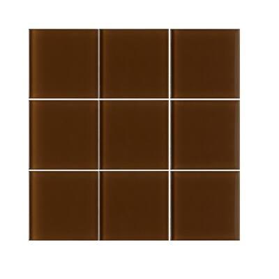 shower brown 4x4 tile flooring