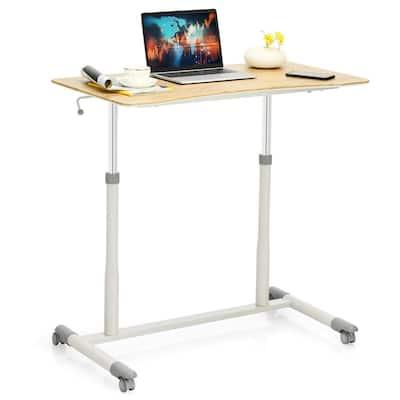 37.5 in. Rectangle Black Wood Computer Desk