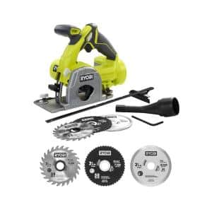 ONE+ 18V Cordless Multi-Material Saw (Tool Only) with Extra 3-3/8 in. Multi-Material Saw Replacement Blade Set (3-Pack)