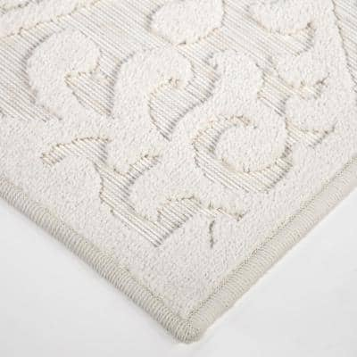 Bluebonnets Off-White 8 ft. x 11 ft. Indoor/Outdoor Area Rug