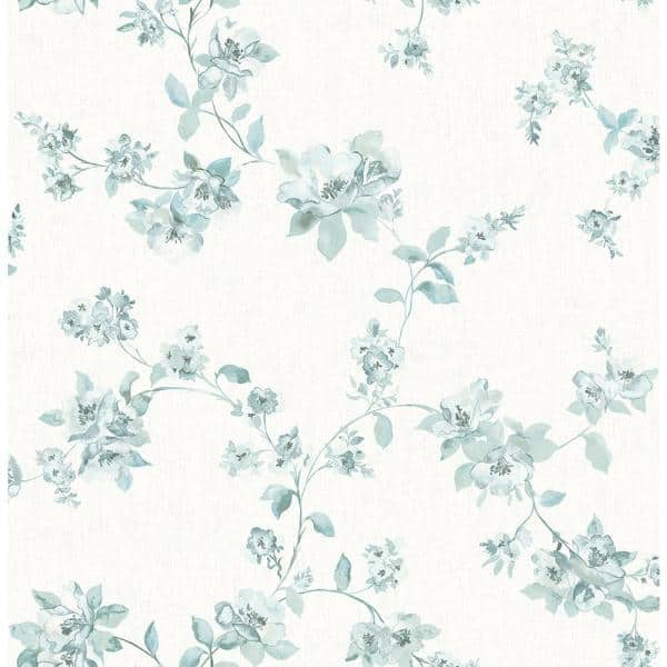Chesapeake Cyrus Teal Floral Paper Strippable Roll Covers 56 4 Sq Ft 3115 24480 The Home Depot