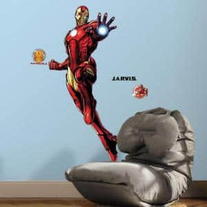 5 in. W x 19 in. H Iron Man 9-Piece Peel and Stick Giant Wall Decal with Glow