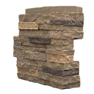 Stacked Stone Volcanic Gray 4.25 in. x 13.75 in. Faux Stone Siding Corner (4-Pack)