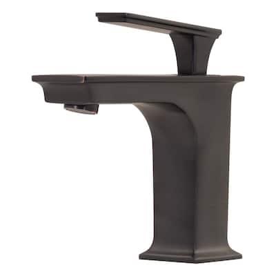 Eva Single Hole Single-Handle Waterfall Bathroom Faucet in Oil Rubbed Bronze